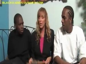 Black Guys Share Matured Cougar free