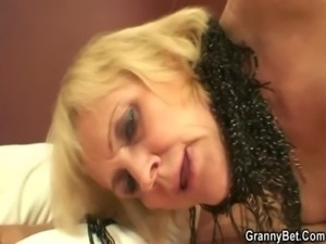 Old prostitute takes it from behind free