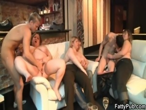 Partying fatty is boned from behind free