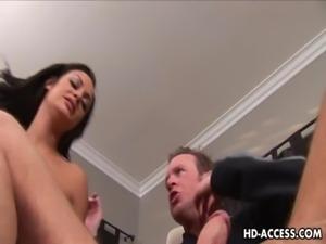 Half Asian slut Angelina Valentine hardcore fucking! free