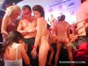 Orgy excited slut gets hardcore banged on stage