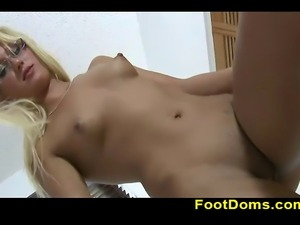JC Simpson is always ready for something new and she is ready to try foot...