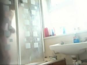 Smart Indian teen Girl bath clip caught by hidden cam
