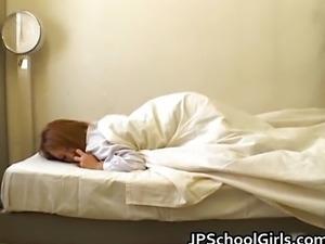 Cute school girl fucks her sleeping