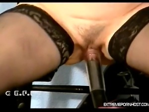 Master ties his skank to a bdsm chair and starts to tease her sensitive...