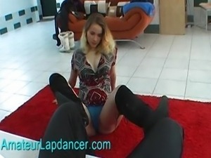 Lapdance in sexy black boots