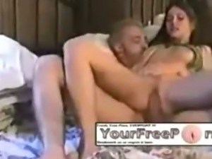 Girlfriend cock riding in sexy green lingerie