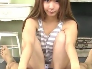 Horny guy has a fun time with cute Japanese teen Sana Anzyu when she sucks...