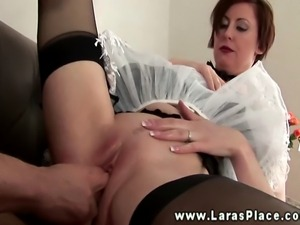 Mature stocking maid babe pussy fucked and can't get enough