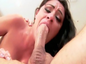 24 year old Latina with natural 34D tits and a 36 inch ass does DPP with 2...
