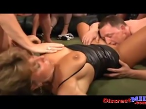 Many mature housewives organize a private orgy