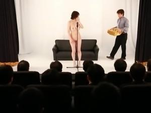 nippon beauty masturbates for an audience