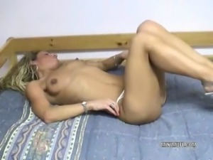 Petite Holly fucks her ass with a toy free