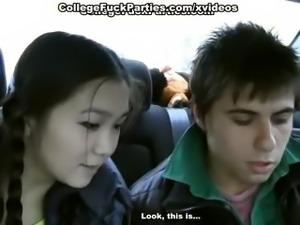 18 year old girl gets banged in the car