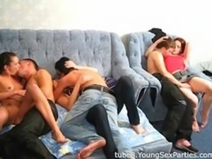 College roommates fuck two hot dolls