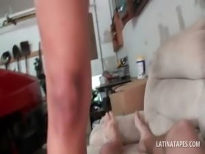 Latina nympho jumping a hardon in POV style