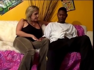 Cougar gets down and dirty with youngster's black dick