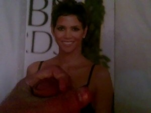 Halle Berry Cumshot Tribute