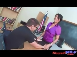 Busty MILF Teacher Fucked by a Problematic Student free