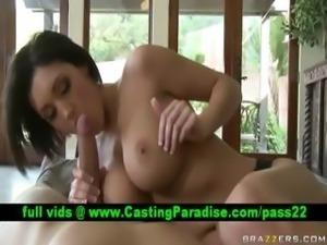 Dylan Ryder busty brunette blowjobs huge dick