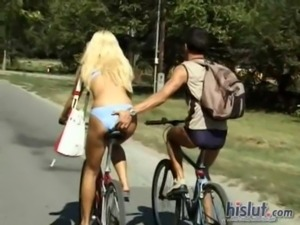 Gina Blue was riding her bike free