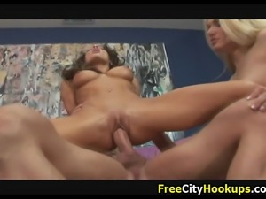 Busty Hotties Ava Vincent And Vanessa Lane Hard Fuck Th