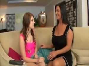 young teen girl seduced by her lesbian milf mom free
