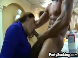 Drunk Babes Sucking Cock at Elizabeth's Insane Holiday Extravaganza free
