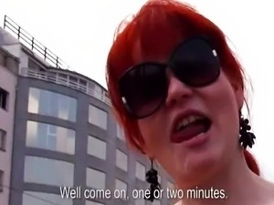 Redhead amateur slut gets paid and analed in