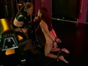 2 brunettes anally dominated by guys and mistress 2