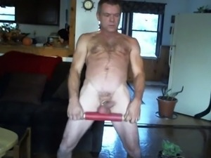mike muters crushes my cock and balls with a rollingpin