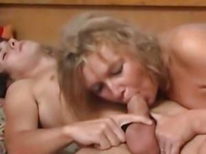 Blonde mature fucks young boy 00