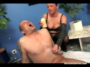 Man enjoys to be tortured by a hot girl free