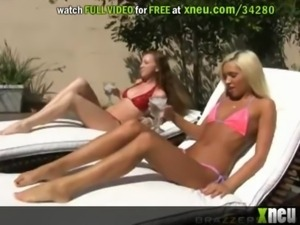 Blonde Cutie Gets Her Wet Pussy Stretched Out By A Fat Cock free