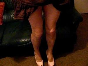 Crossdresser fucking her heels