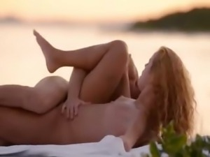 Pussy licking and copulating by the sea