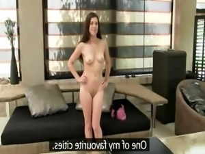 Fake agent fucking 20yo babe on ottoman