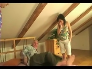 Old couple with a young girl 2