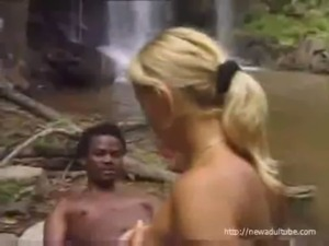 Blonde fucked in jungle free