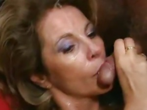 German mature housewife gets loads of cum on face