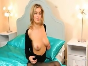 Blonde whore with unbelievable stocking