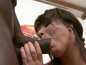 Busty mom bangs big black cock