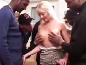 Sylvie, mature gangbanged by blacks dicks