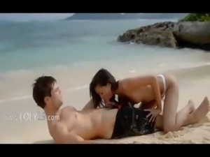unbelievably hot lovers sex on the beach