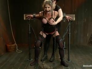 hot slut getting bondaged and wihipped