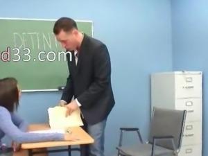 Sexy latina girl fucked by teacher