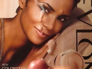 Halle Berry Cum Tribute Bukkake