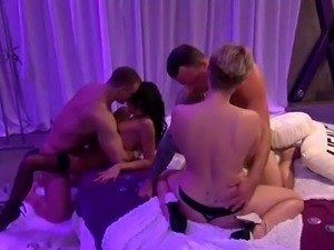 they are having an orgy on the bed named heaven @ season 5. ep. 5
