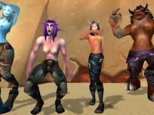 Four dancing hotties