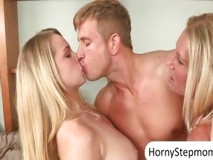 Devon Lee and Britney Young enjoying a hot th